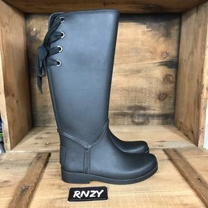 Coach Tristee Lace Up Waterproof Rain Boots